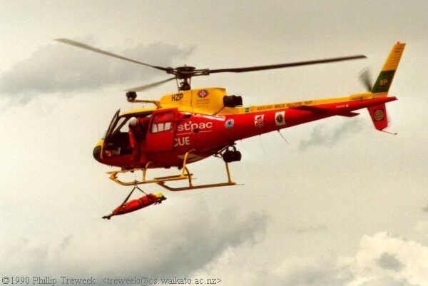 WestPac Rescue Helicopter demonstrates winching